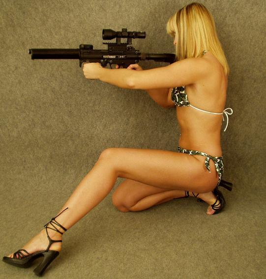 Sexy girls shooting guns